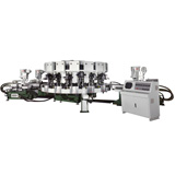 NSK-393B-3C,Rotary Type Automatic Three Color Soles Jointing & Ejecting Moulding Machine