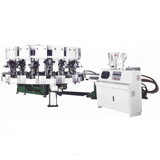 NSK-294B,Rotary Type Automatic Single Color Soles Jointing & Ejecting Moulding Machine